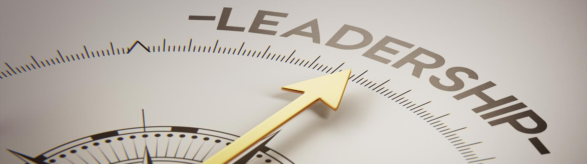 Clock pointing to the word leadership